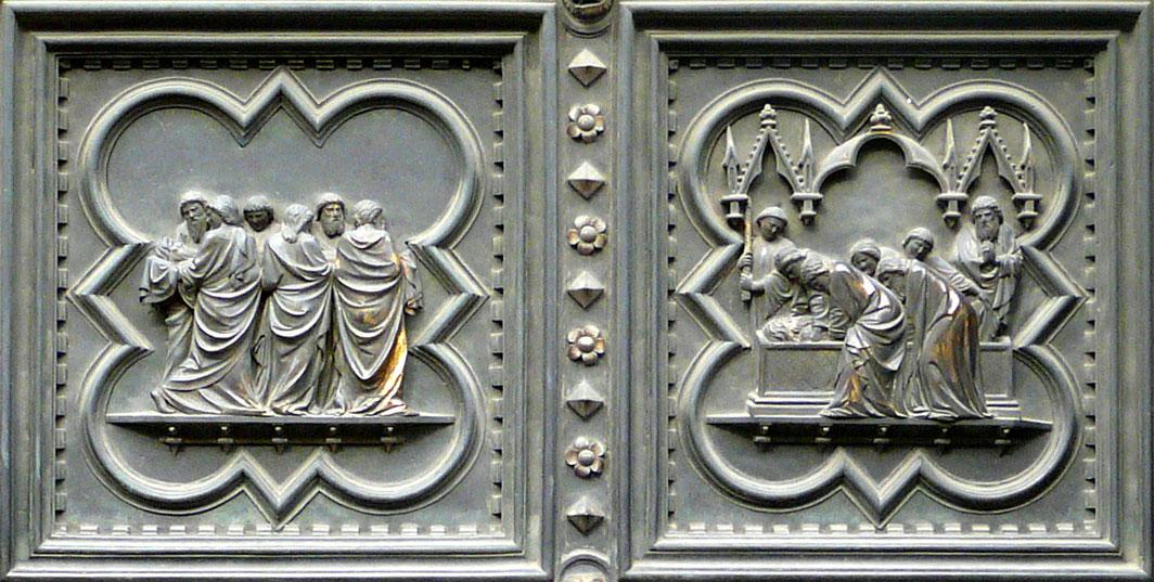 Panels ... & Baptistery of San Giovanni - Florence