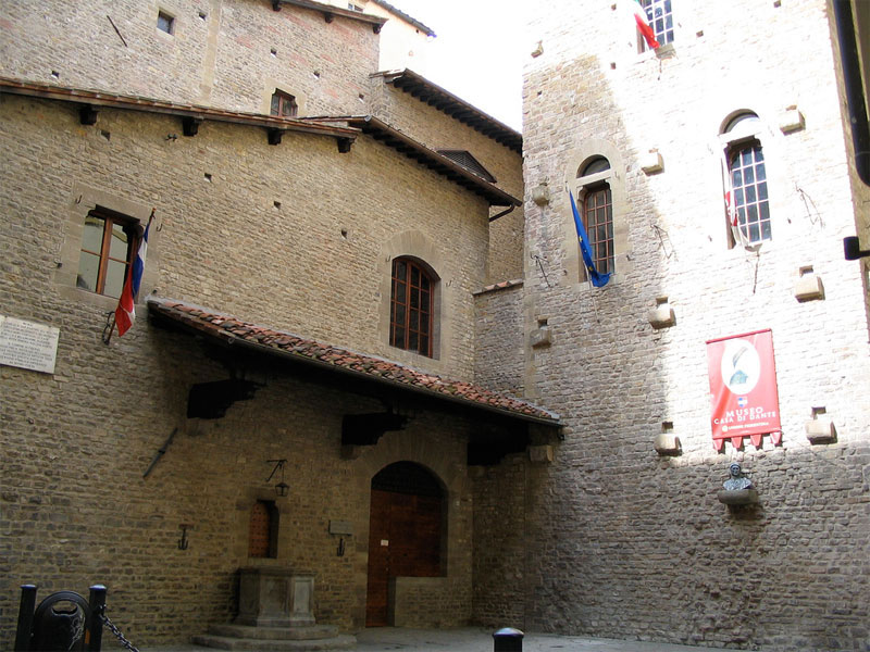 The House Museum Of Dante Next To The Medieval Tower