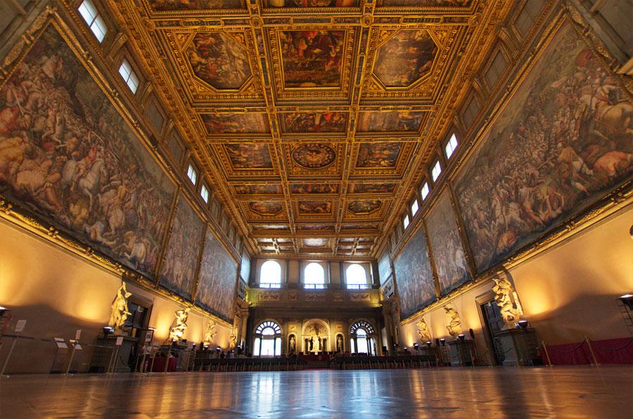 Sala Dei 500 Firenze.Palazzo Vecchio And Piazza Signoria Florence